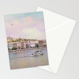 Dreamy Riverboat Cruising the Danube River in Budapest Stationery Cards