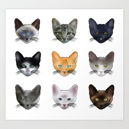A Purrfect Pattern Art Print