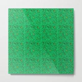 Abstract pattern: eyes (green) Metal Print