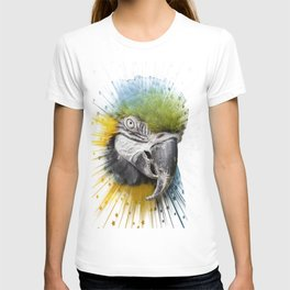 parrot bird star burst T-shirt
