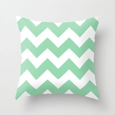 Mint stripes Throw Pillow