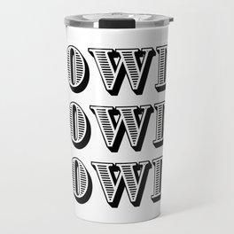 Black And White Howdy Travel Mug