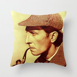 Peter Cushing as Sherlock Holmes Throw Pillow