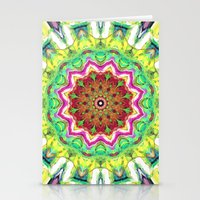 lime green Stationery Cards featuring Lime Green Citrus Abstract by Phil Perkins