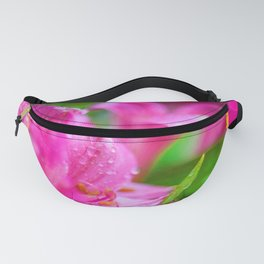 Pink Hibiscus with Bubble Border Fanny Pack