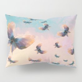 Happiness is a butterfly Pillow Sham