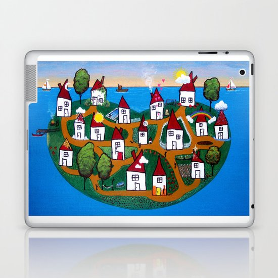 Dream House Island Laptop & iPad Skin