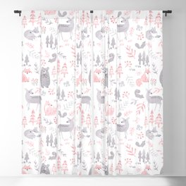 Woodland Forest Animals Blackout Curtain