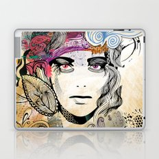colorful floral girl Laptop & iPad Skin
