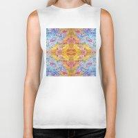 lsd Biker Tanks featuring LSD Flower by Zeus Design