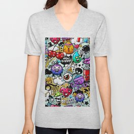 graffiti fun Unisex V-Neck