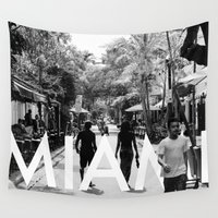 miami Wall Tapestries featuring Miami by HMS James