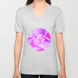 rose liquid violet Unisex V-Neck