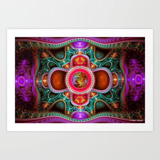 Time Space Portal Art Print