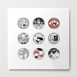 blurry icons Metal Print