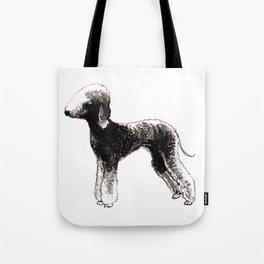 Bedlington terrier dog Tote Bag