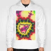 mineral Hoodies featuring Colourful Fractal Mineral by thea walstra