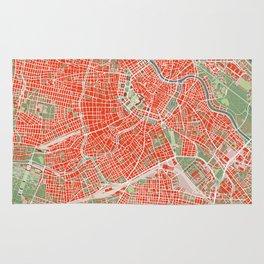 Vienna city map classic Rug