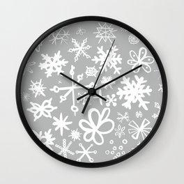 Snowflake Concrete Wall Clock