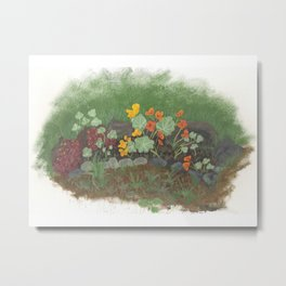 flower-garden Metal Print