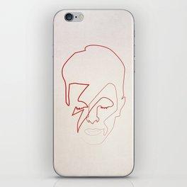 One line Aladdin Sane iPhone Skin