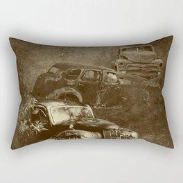 Cars in the jungle Rectangular Pillow
