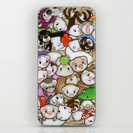 One Hundred Million Ferrets iPhone Skin