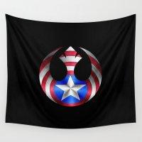 shield Wall Tapestries featuring Rebel Shield by •tj•rae•
