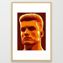 Ivan Drago Framed Art Print