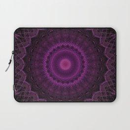 Dark mandala with violet ornaments Laptop Sleeve