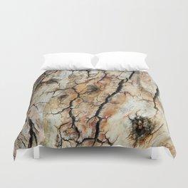 Cracked tree bark  Duvet Cover