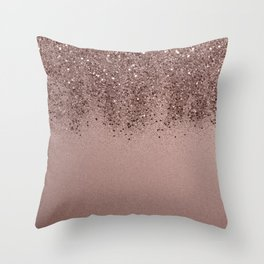 Sparkling Rose Gold Blush Glitter #3 (Photography) #shiny #decor #art #society6 Throw Pillow