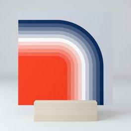 70s Stripes Rainbow Mini Art Print