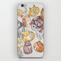 a lot of cats iPhone & iPod Skins featuring Lot of cats by Billie La Roche