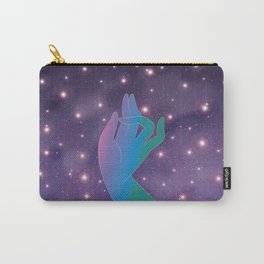 Blue Rainbow Holly Hand in Universe Carry-All Pouch