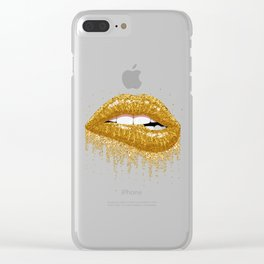 Sexy lips Clear iPhone Case