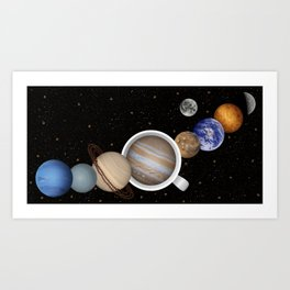 Coffee in Space 2 Art Print