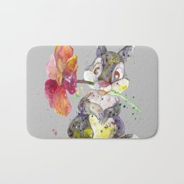 Bunny With flower Bath Mat