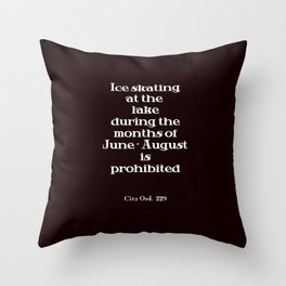 City Ord.  229 Throw Pillow