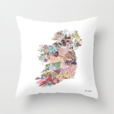 Ireland map Throw Pillow
