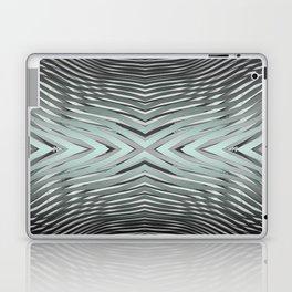 Gradient Zebra Turquoise Laptop & iPad Skin