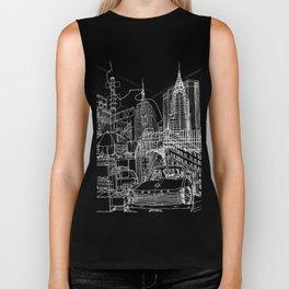 New York B&W (Dark T-shirt Version) Biker Tank