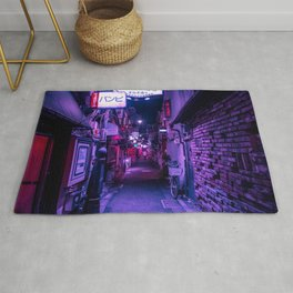 Purple Hues of Golden Gai  Rug