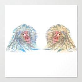 Macaco blues Canvas Print