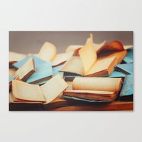 books Canvas Prints featuring Books by Nina's clicks