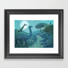 Topiary Park - Night Framed Art Print