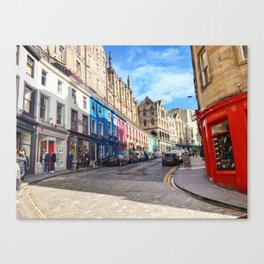 Edinburgh Grassmarket Canvas Print