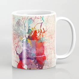 Mobile map Alabama painting Coffee Mug