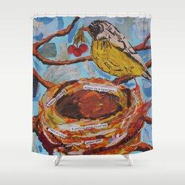 La Belle Bird & Nest Shower Curtain