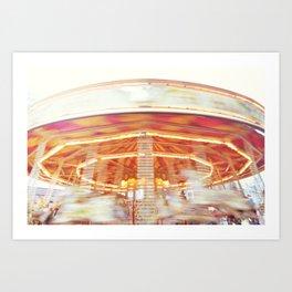 Carousel love Art Print